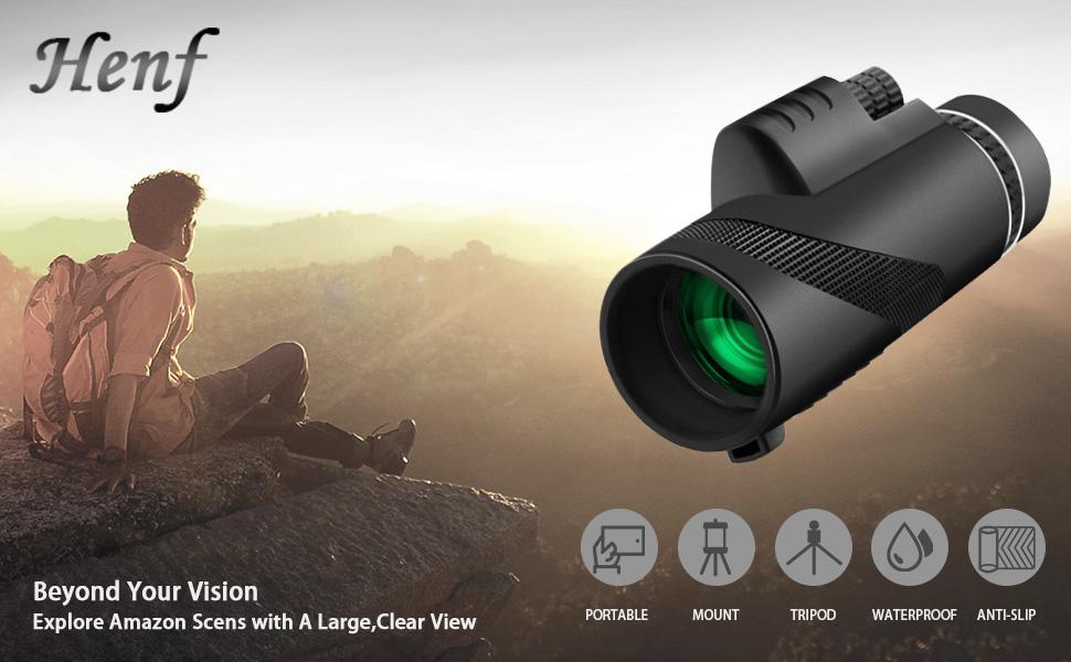 Monocular telescope henf high power bak prism fmc lens