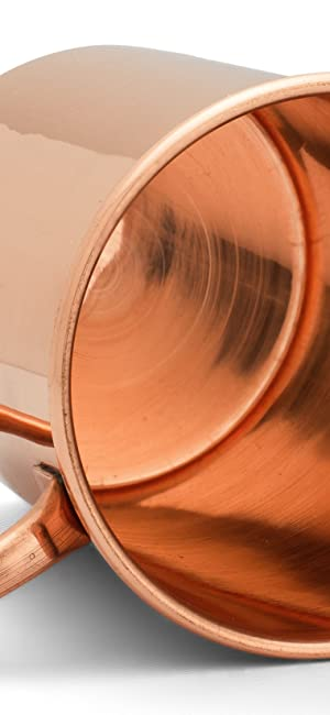Copper Mules Straight Smooth Pure Copper Moscow Mule Mug