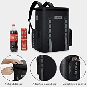 TOURIT soft cooler backpack Hopper Backflip Soft Sided Cooler beach camping cooler