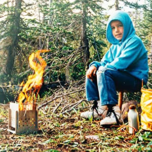 camping, hiking, backpacking, wood stove, portable stove, foldable stove, fire stove