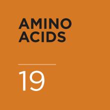 19 amino acid chains per serving