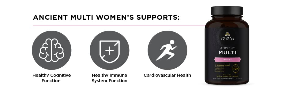 Ancient Multi Women's Supports: Cognitive Function, Immune System Function and Cardiovascular Health
