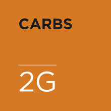 2 grams of carbs per serving