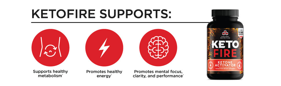 KetoFIRE Supports healthy metabolism, energy and promotes mental focus, clarity, and performance