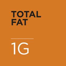 I gram of fat per serving