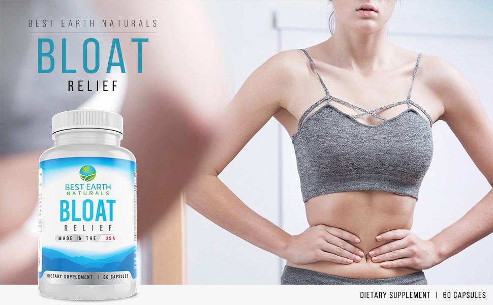 Bloat Relief  PMS Natural Diuretic with Dandelion, Green Tea, Cranberry, Apple Cider Vinegar & More