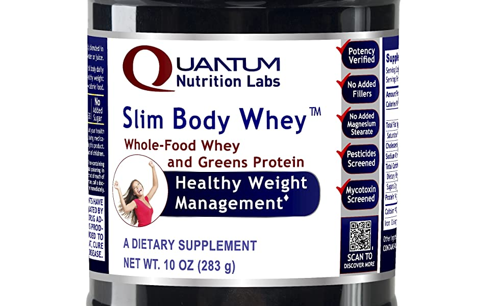 Amazon.com: Quantum slim-body Whey, 12oz Canister ...