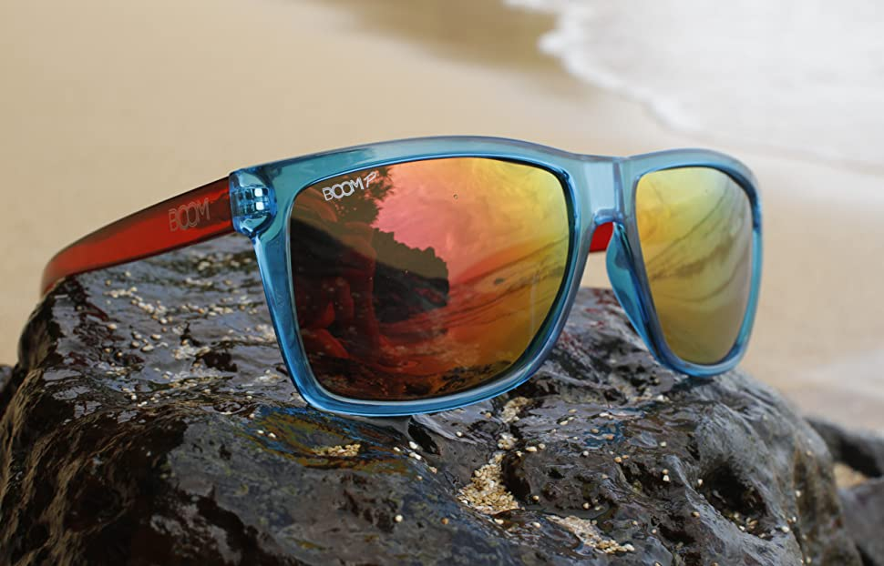 5635b4b6b6a0 Amazon.com  Boom Surge Polarized Sunglasses by Dimensional Optics ...