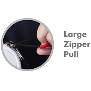 Large Red Zipper Pull