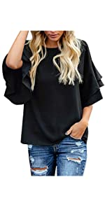women 3/4 sleeve blouse