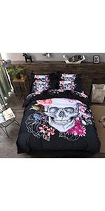 Skull Duvet Cover Set