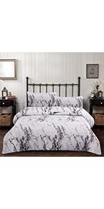 White Marble Comforter