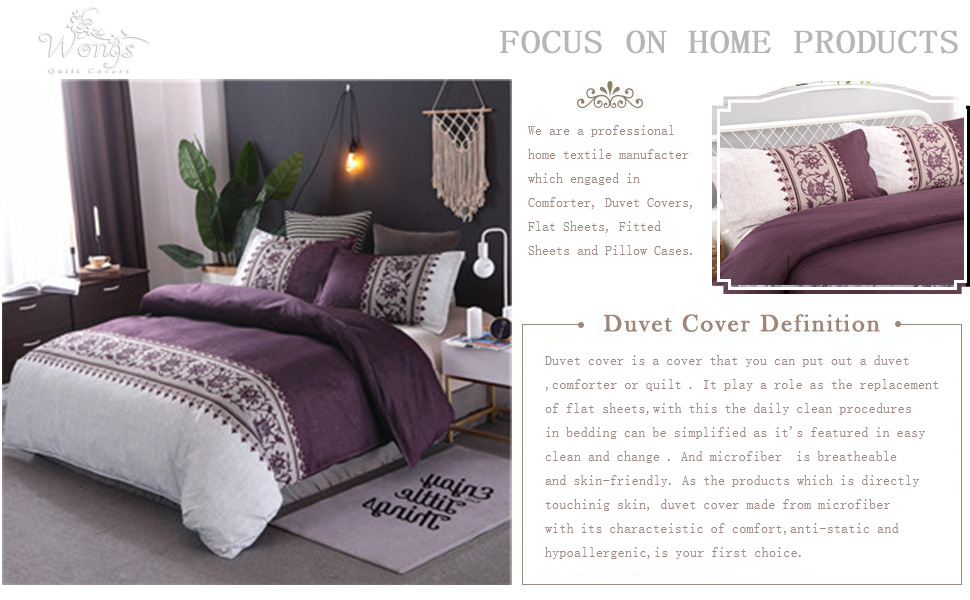 Quilt Cover Set Purple
