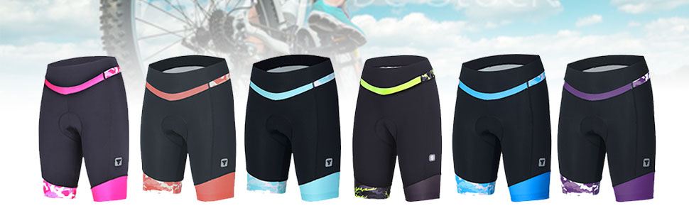 Women Breathable Bike Shorts Cycling Shorts with 3D Gel Pad