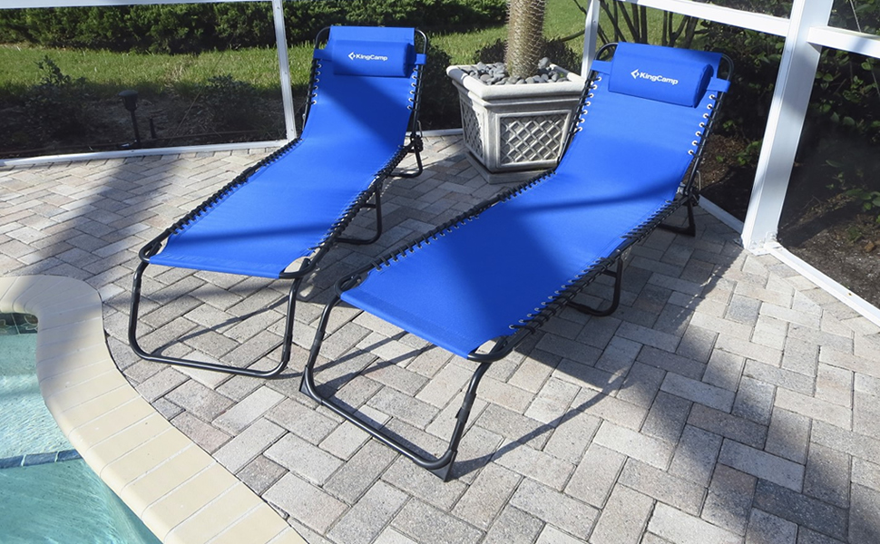 This Picture Is The Customeru0027s True Review Of KingCamp Beach Chaise Lounge  Chair Sunbathing Outdoor Patio Deck Camping Pool Slide!!!