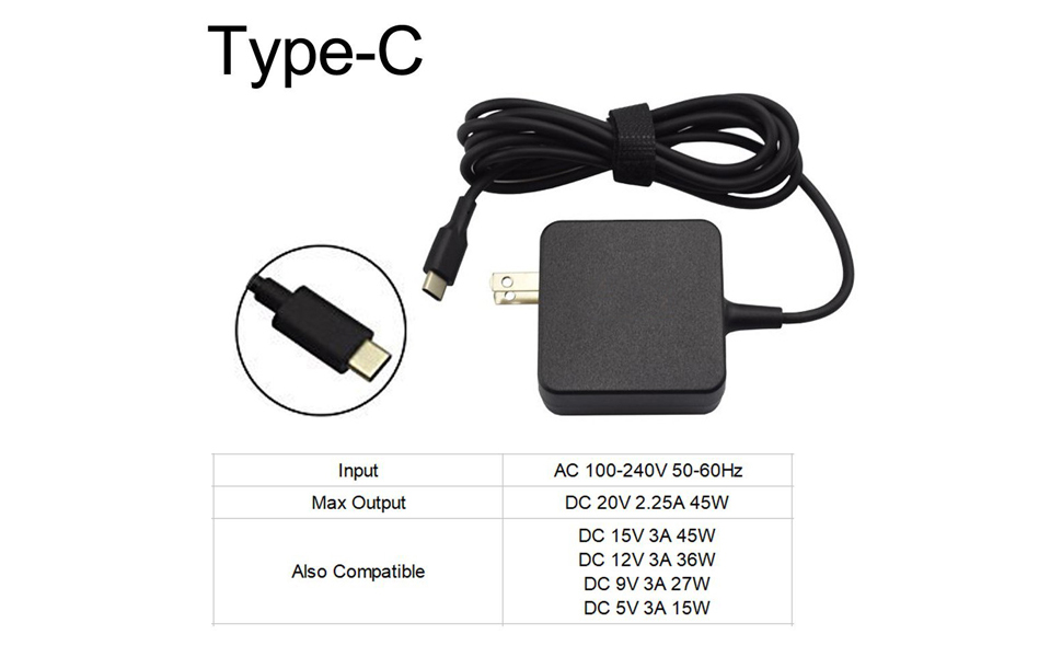 Amazon.com: 45 W AC Charger Power Supply Cable Adaptador ...