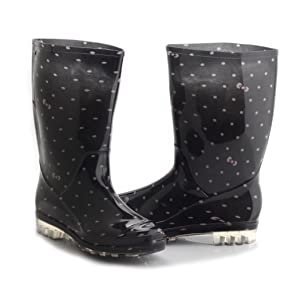 1cfc8f5cfc2c6 Amazon.com | Womens Rain and Garden Boot Wellies Half Calf Rubber ...