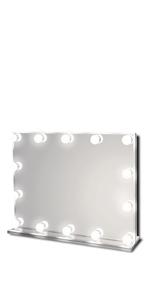 Waneway Lighted Vanity Mirror, Large