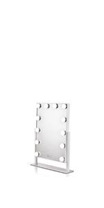 Waneway Lighted Vanity Mirror, White