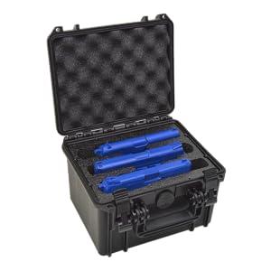 triple pistol gun case waterproof storage