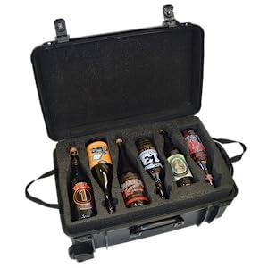 booze case wine carrier case beer cast spirits storage box alcohol travel case