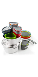 Unisex One Size Adults GSI Outdoors Glacier Base Camper Kitchen Kit Multi-Colour