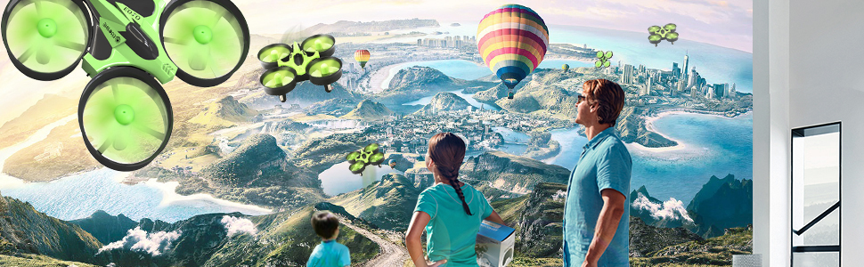EACHINE Mini Quadcopter Drone, E010  Remote Control Nano Drone for Kids Adults Beginners