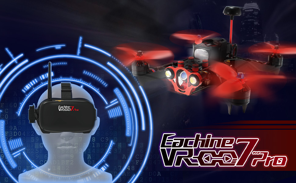 49c61eb4479c EACHINE VR-007 Pro 5.8G 40CH FPV Goggles 4.3 Inch Video Headset Glasses  With 3.7V 1600mAh Battery. Description  Brand  Eachine Item Name   VR007 Pro
