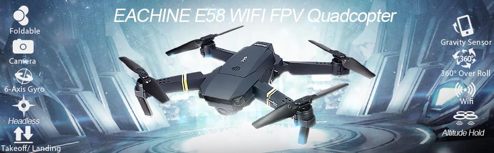 e58 WIFI FPV Drone