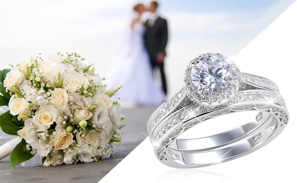 Wedding Rings for women engagement ring set