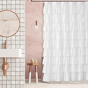 modern shower curtain white