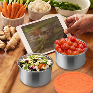Amazon.com: X-Chef - Juego de 3 recipientes para ensalada ...