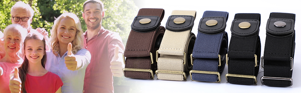 5 different colors of this elastic belt