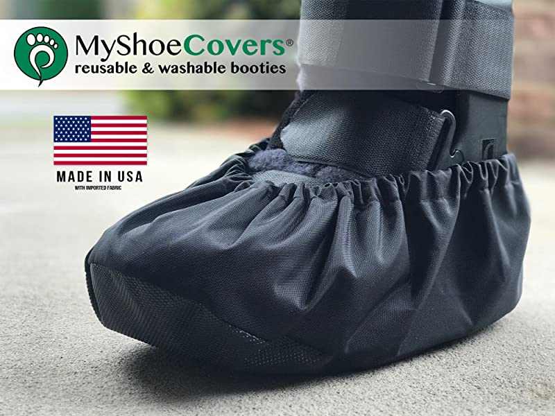 MyShoeCovers 1 Fracture Walking Boot Cover - Black | X