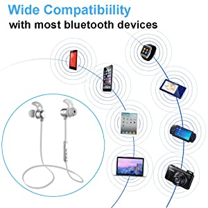 The bluetooth headset could easily connect with most bluetooth-enabled devices, such as tabelts, iPad, iPod laptops, and smartphones apple and android: ...
