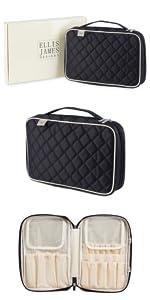makeup brush bag, makeup brush travel case, makeup brush organizer bag, brush bag, travel makeup bag