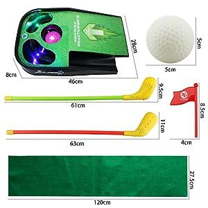Amazon.com: uboway Mini juego de putting green alfombra ...
