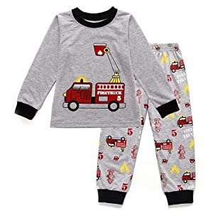 aafbfd1eb Amazon.com  Toddler Boys Pajamas Easter Little Kids Pjs Dino ...