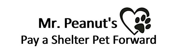 Mr. Peanut's Brand Logo with Pay a Shelter Pet Forward