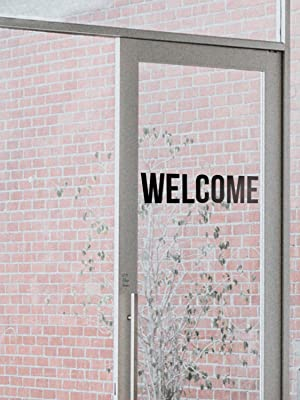 welcome entryway quotes letters stickers work office business decorations decor