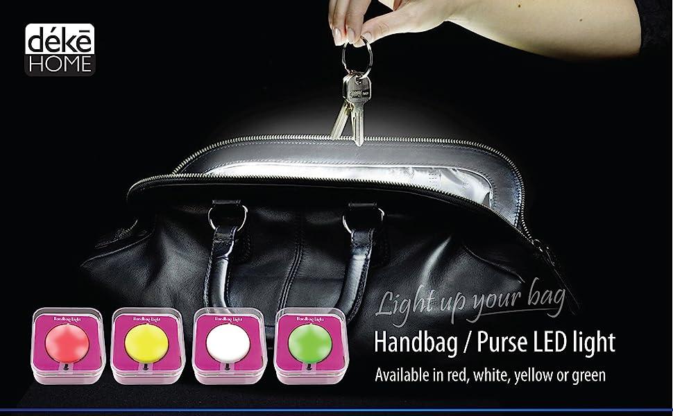 Purse Handbag Bag Light Led Round Touch sensor light automatic light Up Handbags Shoulder Bag Travel
