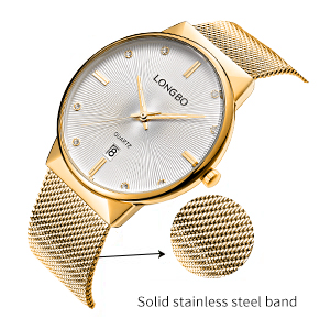 Stainless steel mesh bracelet with a graceful curve