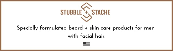 specially formulated beard care and skincare products for men with facial hair