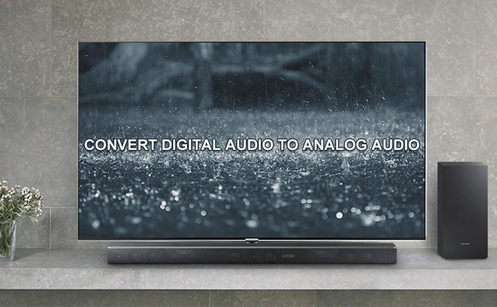 Simple solution to convert coaxial or optical toslink (s/pdif) digital PCM audio signals to analog audio signal