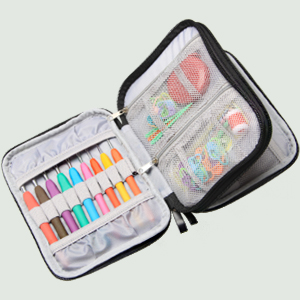 Damero Crochet Hook Case, Organizer Zipper Bag with Web Pockets for Various Crochet Needles and Knitting Accessories, Well Made and Easy to Carry, ...
