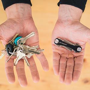keyring smartkey holder key rings organizer black messy bulky keyring minimalist detachable keyring