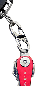 keysmart s biner quick disconnect small compact mini carabiner keychain convenient key holder gift
