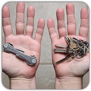 Amazon.com: keysmart – Compact titular clave (Titanio ...