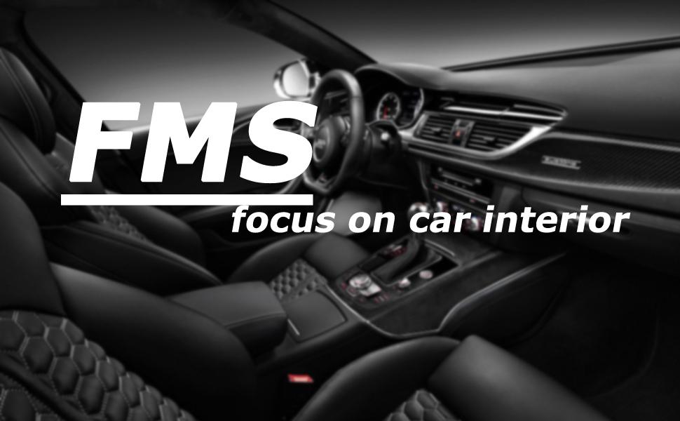 Amazon Com Fms Genuine Leather Car Steering Wheel Cover Universal