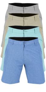 vbranded men's driven quick dry microfiber swim shorts nickel grey royal blue aqua green khaki